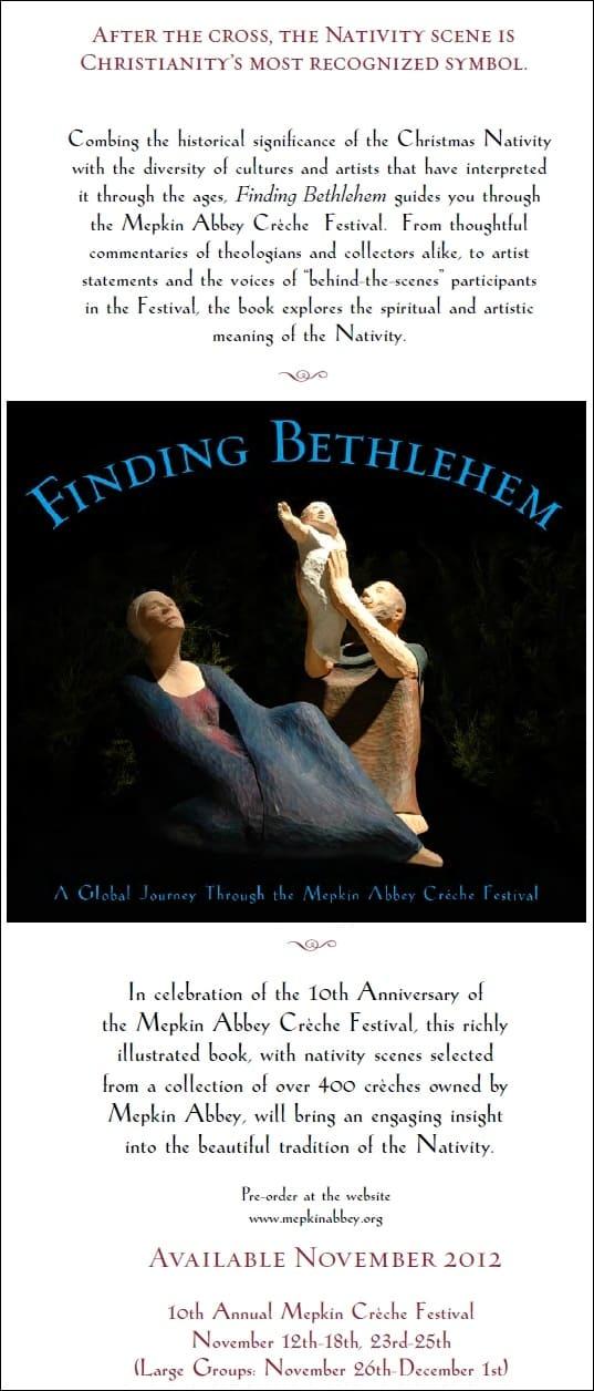 Book: Finding Bethlehem: a Global Journey through the Mepkin Abbey Crèche Festival