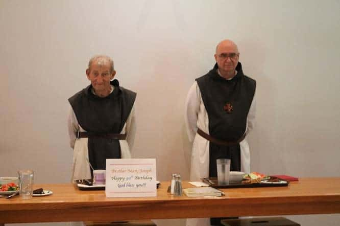 Mepkin brothers celebrate Br. Joseph's 90th birthday