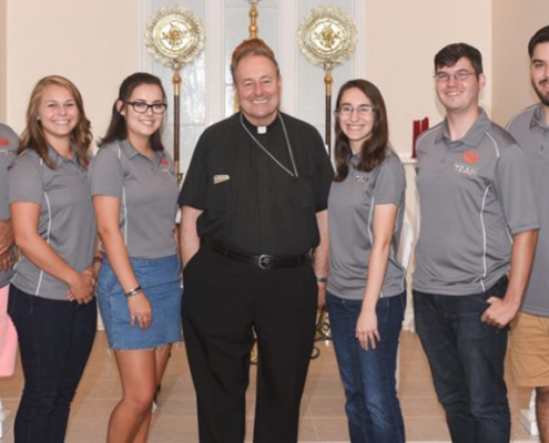 Diocesan Missionary Team Visits Mepkin with Bishop Guglielmone