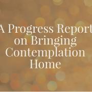 A Progress Report on Bringing Contemplation Home
