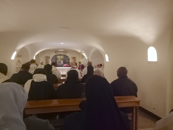 Mass at St. Peter's Crypt