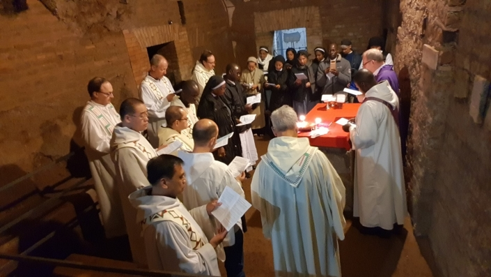 Mass at the Catacombs of Domitilla