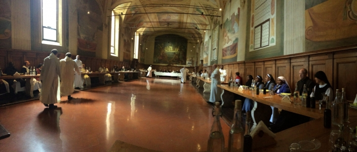 Monte Oliveto Monastery Refectory – dinner with the monks.
