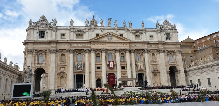 Palm Sunday Mass with Pope Francis at St. Peter's.