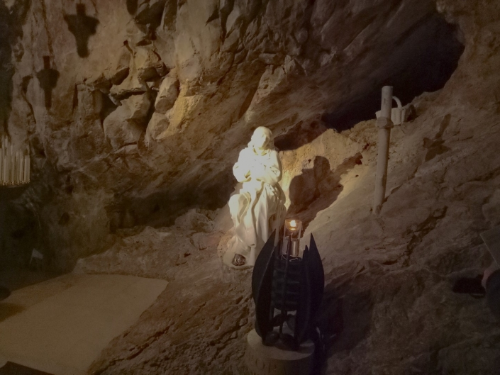 Sacro Speco – Holy Cave where St. Benedict stayed for three years.