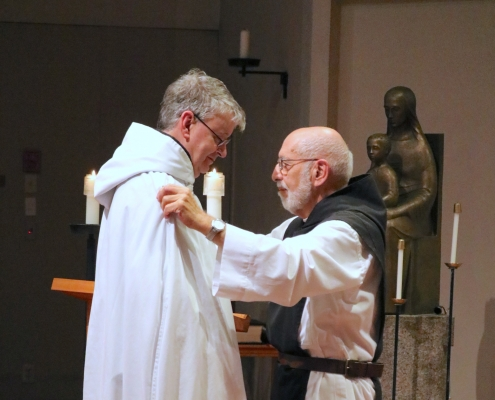 Fr. Columba takes simple vows