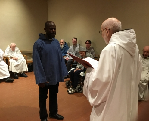 Mepkin welcomes two new Postulants, Jesus Acosta (l) and Jophan Porter (r)