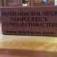 Memorial bricks are available at Mepkin's new Memorial Arbor