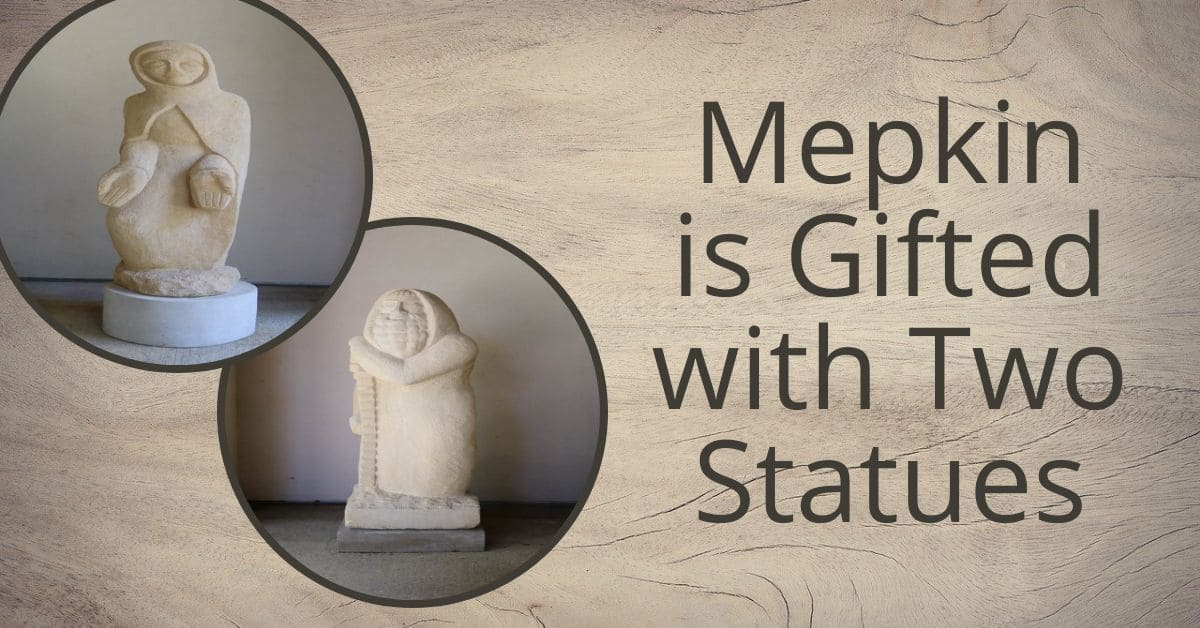 Mepkin is gifted with two statues