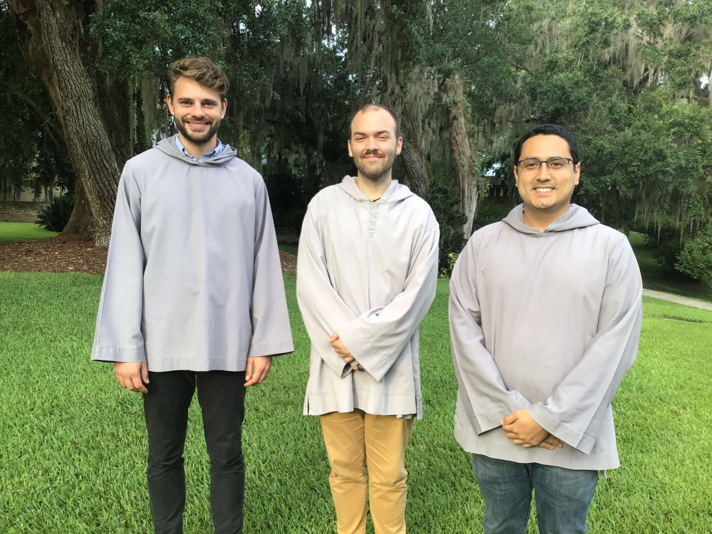 Three Men Join Mepkin for a Year