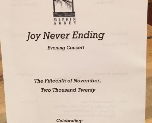 Joy Never Ending Sunday 2020