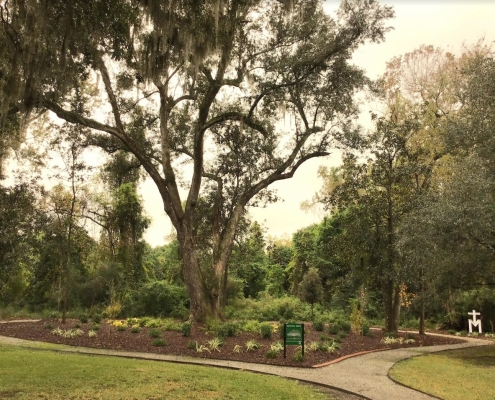 Memorial bricks are available at Mepkin's new Memorial Arbor