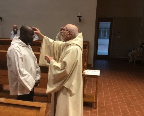 Brother Jophan Takes the Monastic Habit